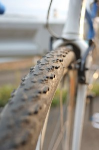 摩耗したMichelin Cyclocross Mud 2