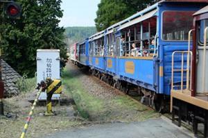 南阿蘇鉄道のトロッコ列車