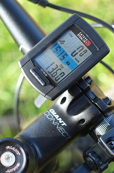 GPSサイクルコンピュータ[CATEYE ステレス50]